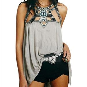 Free People Vision Quest tunic tank